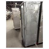 Loaded Rolling Alum Enclosed Sheet Pan Rack,