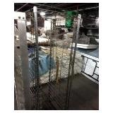 """Wire Chrome Rolling Rack, Approx 21"""" wide x 67.5"""""""