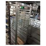 "Alum Rolling Sheet Pan Rack, Approx 22.5"" wide x"