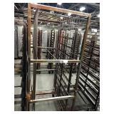"""Rolling Wire Rack, Approx 26.5"""" x 73"""" x 38"""""""