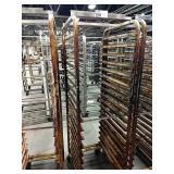 "Rolling Alum Sheet Pan Rack, Approx 20"" wide x"