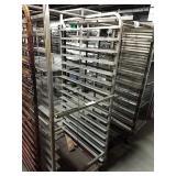 "Rolling Alum Sheet Pan Rack, Approx 28"" wide x"