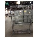 """Rolling Chrome Metro Rack, Approx 48"""" wide x 76"""""""