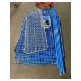 "1 Skid Blue Coated Metro Rack: (4) 74"" Poles,"