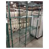 1 Lot 2 Green Coated Metro Racks, Connected by