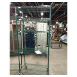 """Rolling Green Coated Metro Rack, Approx 36"""" wide"""