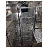 "Rolling Grey Metro Rack, Approx 36"" wide x 56"""