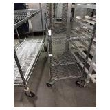 """Rolling Chrome Metro Rack, Approx 30"""" wide x 34"""""""