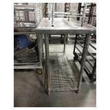 SS Table w/ Chrome Undershelf, Can Opener Base,