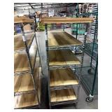 Chrome Metro Rack w/ Wood Shelf Inserts & Top