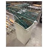 Trash Can of Green Coated Metro Shelf Pieces