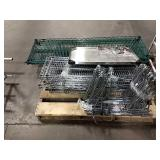 Skid Asst Green Coat Metro Shelf Parts, Chrome