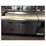 """Delfield 72"""" Refrig. Prep Table, Model 18672PTB"""