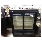QBD 2-Glass Door Display Refrigerator, Model DC41