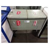 """Retro 2-Lid Ice Chest, Approx 31"""" wide x 16"""" deep"""