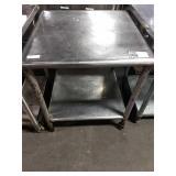 "SS Table, Approx 30"" x 30"" w/ Undershelf"