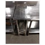 """Rolling SS 14"""" x 30"""" Table w/ Undershelf &"""