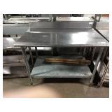 "Eagle SS Table, Approx 48"" x 30"" w/ Undershelf &"