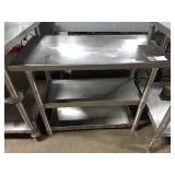 """SS Table, Approx 18"""" x 36"""" w/ 2 Undershelves"""