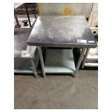 "SS Table w/ Undershelf, Approx 30"" x 30"