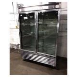 True 2-Glass Door Refrigerator, Model T-49G-LD