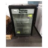 True Tabletop Glass Door Refrigerator, Model