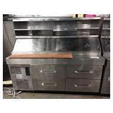 "Randell 72"" 4-Drawer Refrig. Prep Table w/"