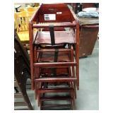 4x Cherry Wood High Chairs