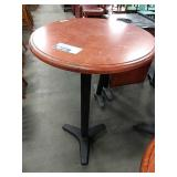 """30"""" Cherry Wood Round Bar Height Table"""