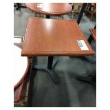 """24"""" Square Cherry Wood 2-Top Dining Table"""