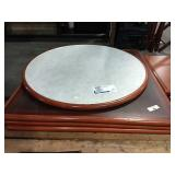 1 Lot 4 Asst Cherry Wood Wrapped Table Tops: (1)