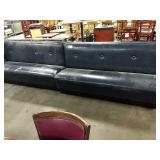 "1 Lot 3 Navy Blue Vinyl Bench Seats, Approx 72"""