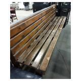 "Wood Slat Bench, Approx 98"" long"