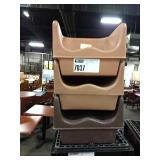 1 Lot 3 Brown Resin Booster Seats