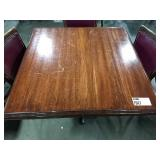 Wood 4-Top Dining Table w/ Single Base, Approx