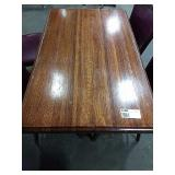 Wood 4-Top Dining Table w/ Double Base, Approx