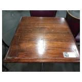 Wood 2-Top Dining Table w/ Single Base, Approx