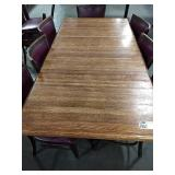 Wood 8-Top Dining Table w/ Double Base, Approx