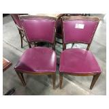 1 Lot 60 Wood Framed Dining Chairs w/ Wine