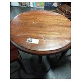"""Round Wood 30"""" Bar Height Table w/ Single Round"""