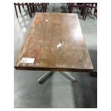 Rect. Wood Dining Table w/ Chrome 4-Spoke Base,