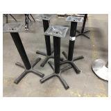1 Lot 4 Black 4-Spoke Dining Table Bases