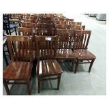 18x Wood Slat Back Dining Chairs