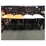 1 Lot 4 Black Metal Window Frame Bar Chairs w/