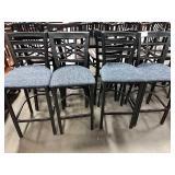 1 Lot 4 Asst Metal Framed w/ Blue Cushioned Seat