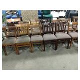 1 Lot 13 Asst Wood Framed Dining Chairs w/