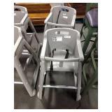 2x Grey Resin High Chairs