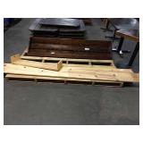 """1 Lot Skid Wood Wall Shelves, (1) Approx 75"""", (2)"""