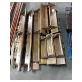 1 Lot Skid Approx 13 Oak Wooden Shelves