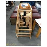 3x Light Wood High Chairs